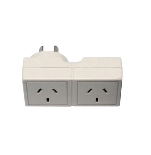 DOUBLE ADAPTER SQUARE PLUG