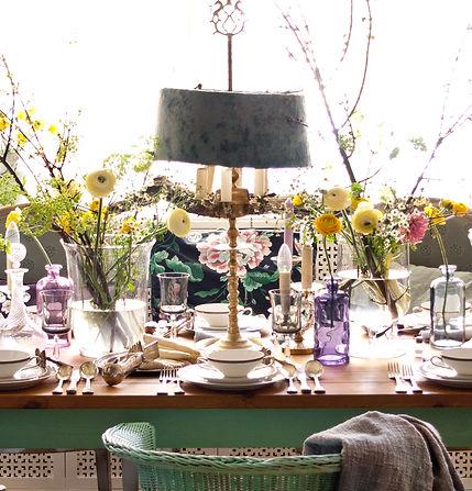 Blumenschmuck und Tischdekoration