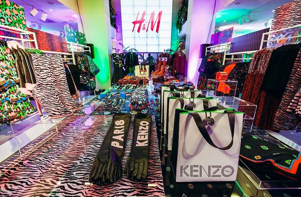 Eventdesig und Ausstattung bei der preshopping night H&M für Kenzo