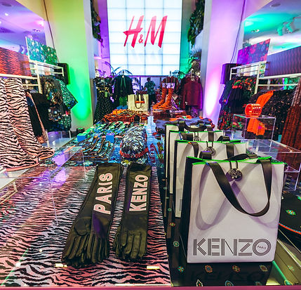 Kreativkonzept, und Dekorationen für Kenzo#H&M