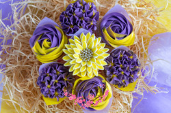Purple and Yellow - Mixed Blooms