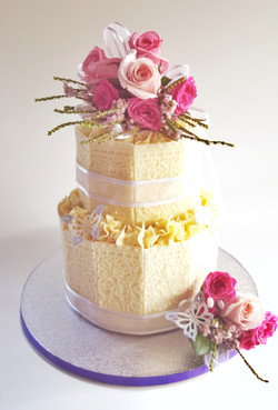 White Chocolate Panel 2 Tier