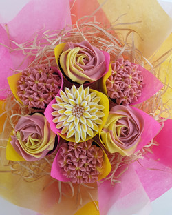 Mixed Blooms - Pink & Yellow