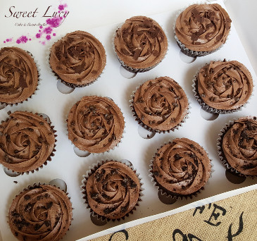 Triple Chocolate Cupcakes ready to be delivered