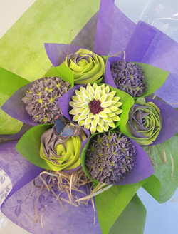 Mixed Blooms - Purple & Lime