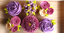Field of Flowers - Burgundy & Violet