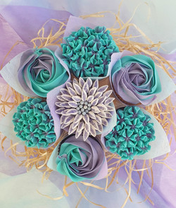 Mixed Blooms - Purple & Teal