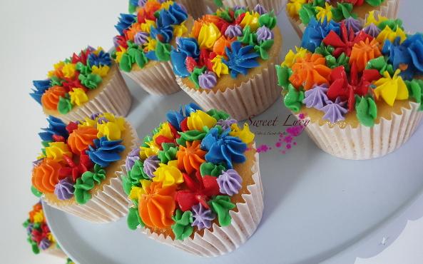 Rainbow 1 Cupcakes