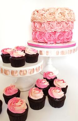 Ombre Pink Swirls