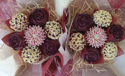 Mixed Blooms - Burgundy & Cream