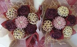 Mixed Blooms - Burgundy & Cream