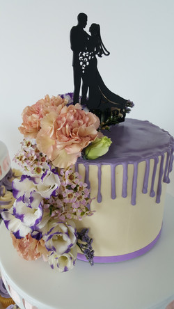 Lilac Cupcake Tower