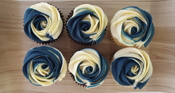 Roses - Navy Blue & Cream