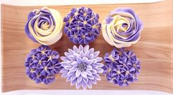 Mixed Blooms - Violet & Cream