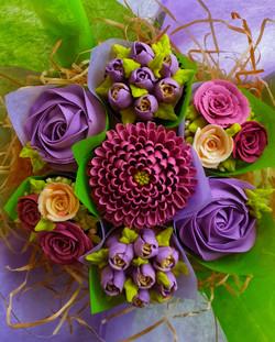 Field of Flowers - Purple & Burgundy