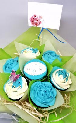 Roses - Blue & Cream