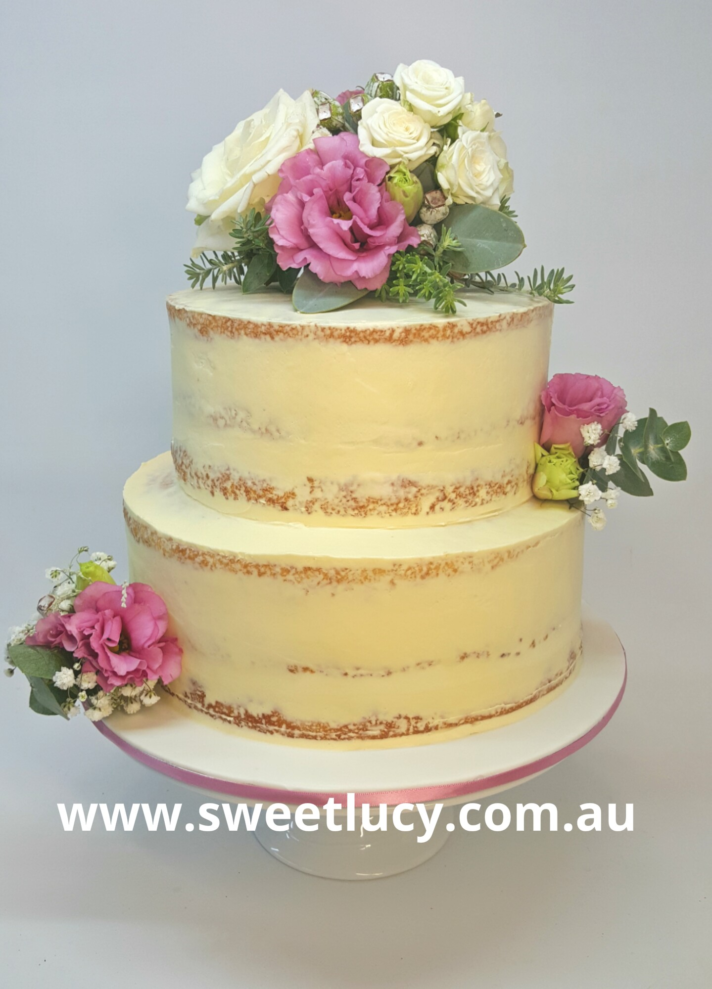 Floral Semi Naked Buttercream 1