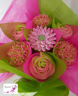 Mixed Blooms - Pink & Lime