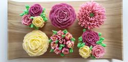 Cupcakes - Shades of Burgundy, Pink & Cream