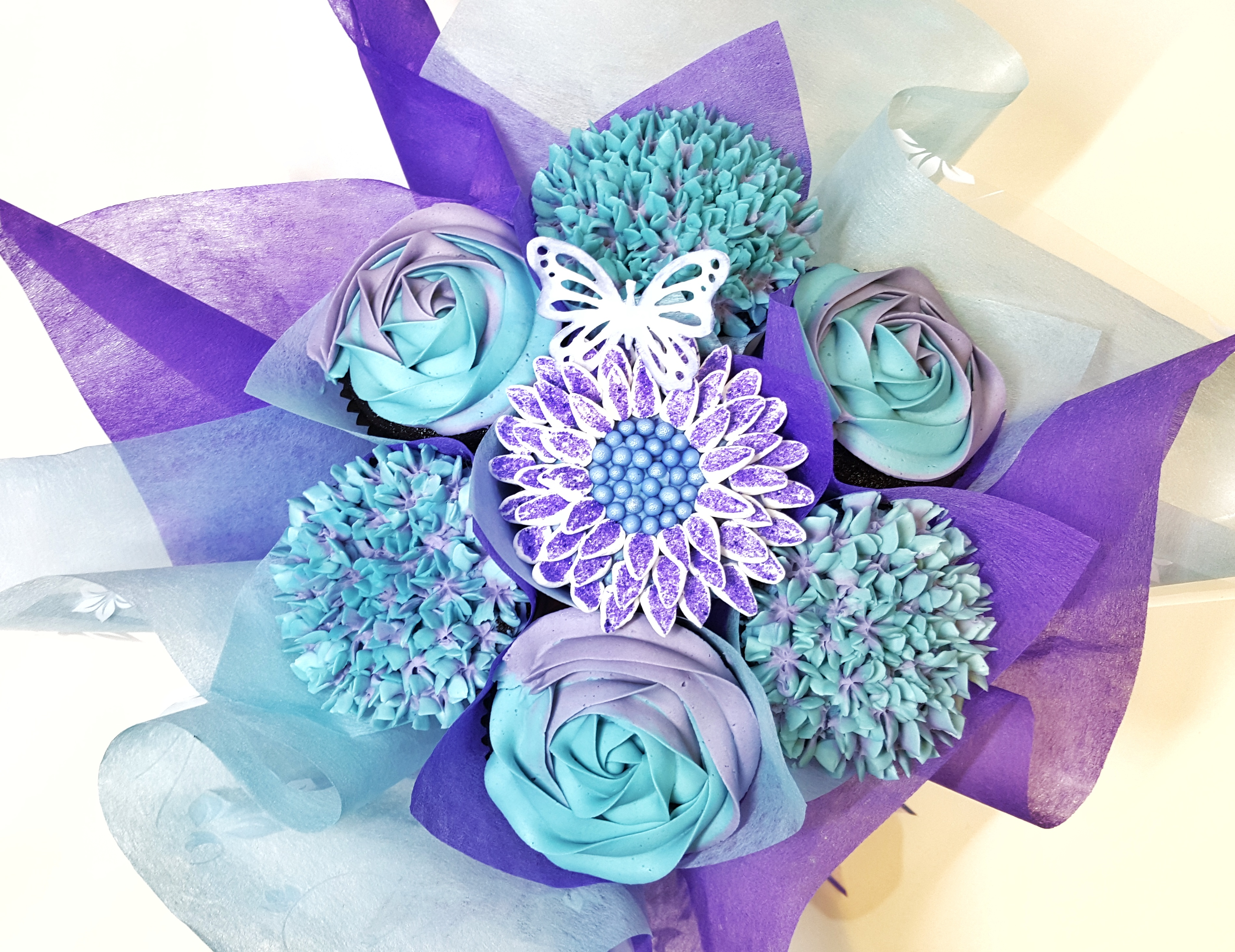 Mixed Blooms - Purple & Blue