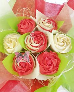 Roses - Red & Cream