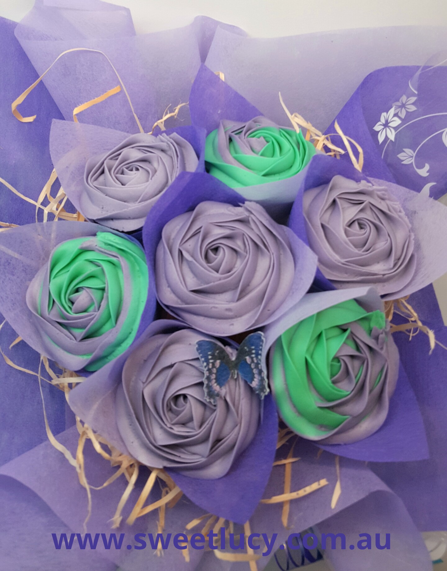 Roses - Purple & Teal