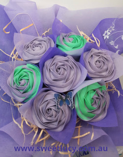Roses - Purple & Teal
