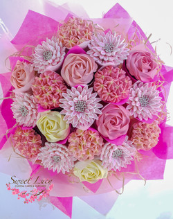 19 Cupcake Bouquet - Mixed Blooms - Pink