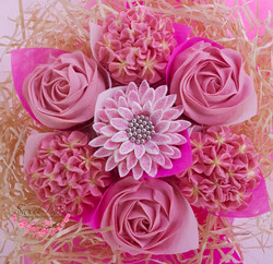 Light pink and cream - Mixed Blooms