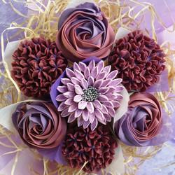 Mixed Blooms - Burgundy & Violet