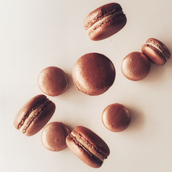 Rose Gold Macarons