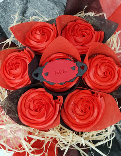 Roses - Red with Black