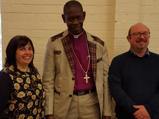 Christine and Ian offered hospitality to Bishop Thomas during his stay here.