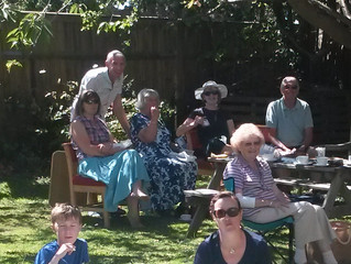 We enjoyed a picnic in St Peter's garden after the August Worship for All service.