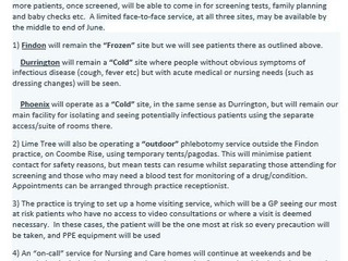 Update from Lime Tree Surgery