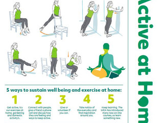 Get Active at Home - ideas for some home exercise