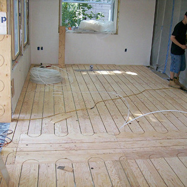 WARM FLOORS WITH RADIANT HEAT