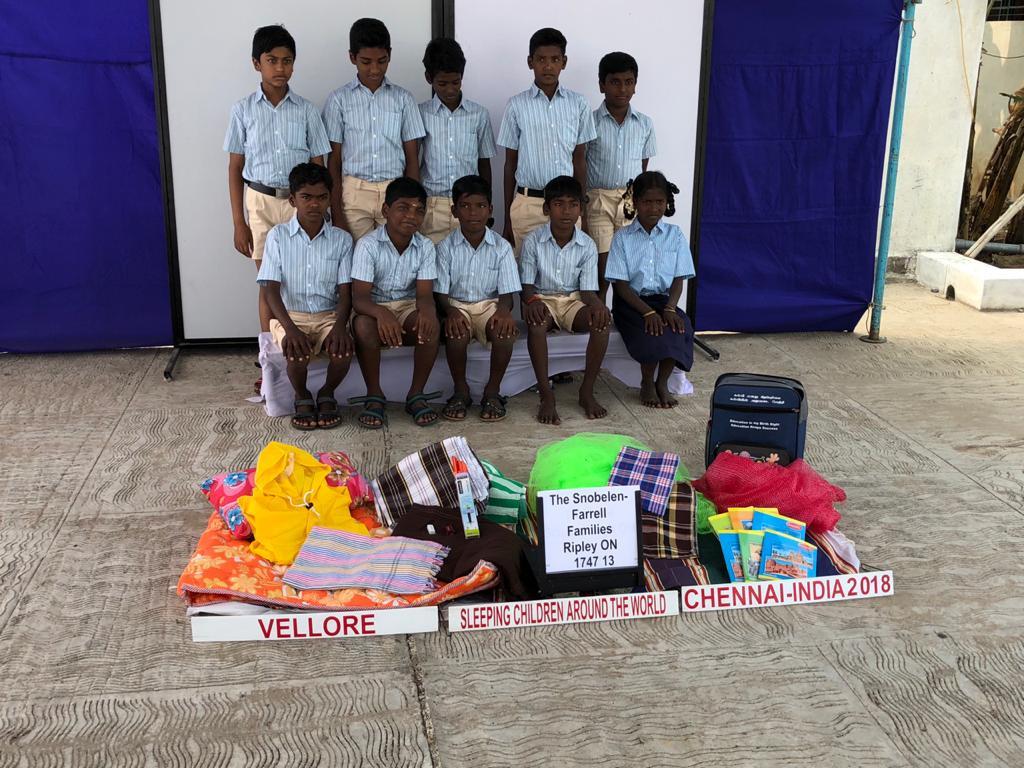 Bed kits distribution at Vellore