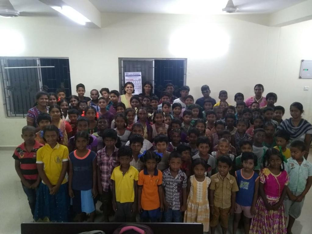 Children at Ayyapakkam ASLC