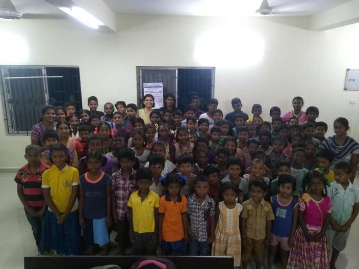 Children at Ayyapakkam ASLC