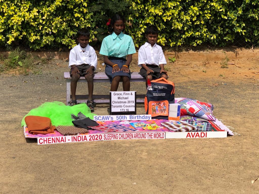 Bed kits distribution at Avadi