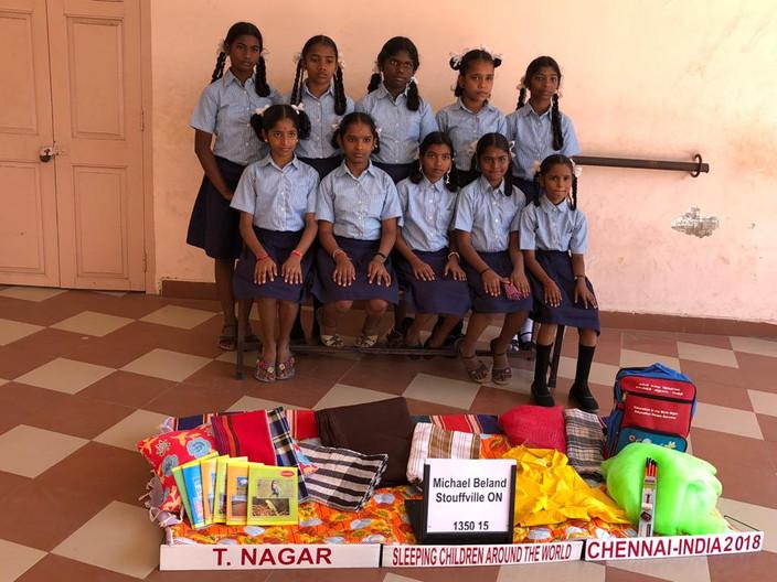 Bed kits distribution at T Nagar