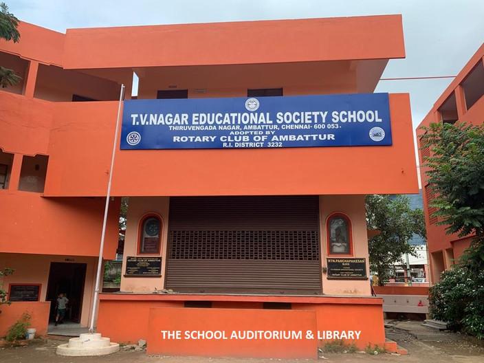 School Auditorium and Library
