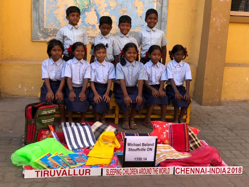 Bed kits distribution at Tiruvallur