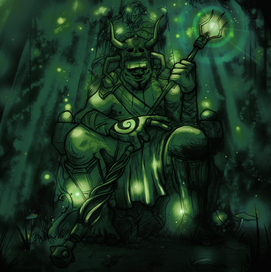 Forest God (Digital painting)