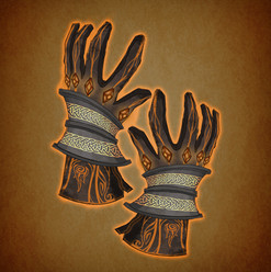 Arrow illustration gloves