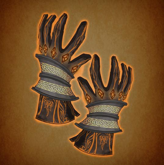Arrow illustration gloves