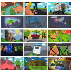Supercell pitch storyboards