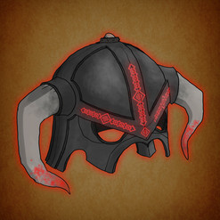 Arrow illustration helmet