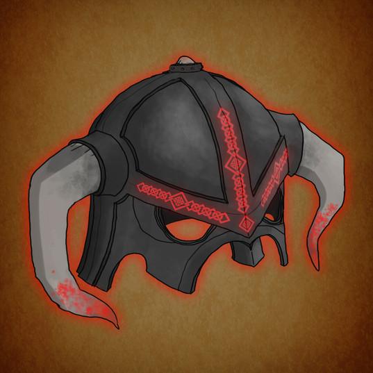 Arrow illustration helmet